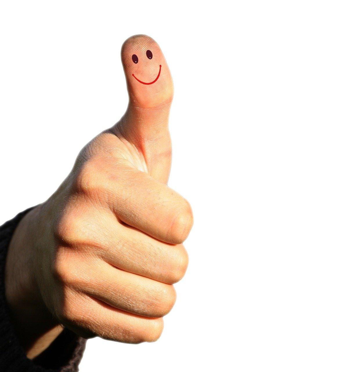 thumb, success, successful